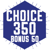 ***SPECIAL*** 350 Choice Plan with $75 Bonus Points  $350.00