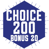 ***SPECIAL*** 200 Choice Plan with $35 Bonus Points   $200.00